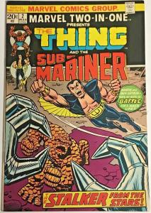 MARVEL TWO-IN-ONE#2 VG/FN 1974 MARVEL BRONZE AGE COMICS