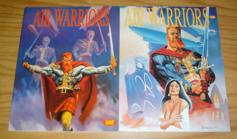Air Warriors #1-2 VF/NM complete series - fantaco graphic novels - tom simonton