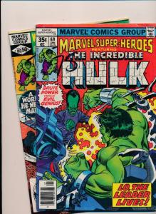 MARVEL Super Heroes ft. -LOT of 2- THE INCREDIBLE HULK #69/103 VG (SRU584)