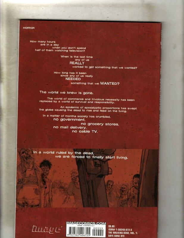 The Walking Dead Vol. # 1 Days Gone Bye Image Comics TPB Graphic Novel Book J362