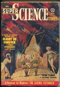 Super Science Stories 11/1950-Popular-Canadian-Poul Anderson-sci-fi fanzines-FN