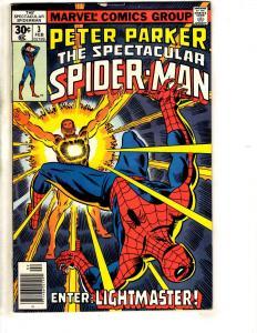 Spectacular Spider-Man # 3 VF Marvel Comic Book Goblin Rhino Vulture MJ CR54A