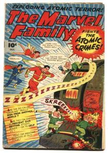 THE MARVEL FAMILY #76 1952-FAWCETT COMICS-ATOMIC CRIMES VG