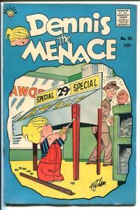 DENNIS THE MENACE #33-HANK KETCHUM ART-WACKY COVER-1958-vg