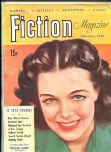 FICTION MAGAZINE-FEB 1943-PULP-SOUTHERN STATES PEDIGREE-good/vg