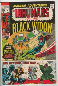 Amazing Adventures #4 (Nov-70) VF/NM High-Grade Black Widow, Inhumans