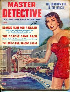 Master Detective 6/1959-MacFadden-swimsuit babe-Bud Parke-D.L. Champion-P