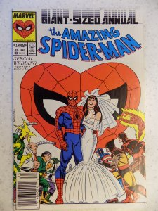 AMAZING SPIDER-MAN ANNUAL # 21 SPIDEY AND MJ WEDDING MARVEL ACTION ADVENTURE