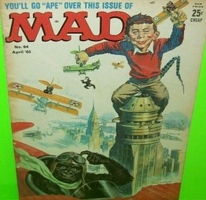 MAD Magazine April 1965 No 94 King Kong Art Vintage Original Issue FAIR See Pics