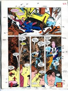 American Flagg! #37 Page #20 Original Color Guide 1987