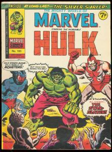 MIGHTY WORLD OF MARVEL #103-HULK-SILVER SURFER-BRITISH VG