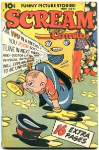 Scream Comics #11 1946- racial sterotypes- Golden Age Humor- VG