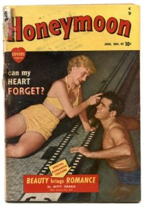 Honeymoon #41 1950- rare only issue- Marvel romance FR