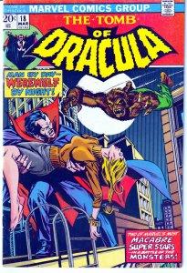Tomb of Dracula(vol. 1) # 18 WEREWOLF BY NIGHT !!!!