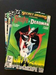 SET of 5-DC SECRET ORIGINS#15-19 Deadman,Dr. Occult, Green Lantern  F/VF(A124)