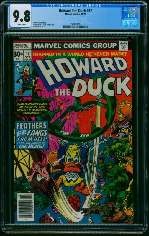 Howard the Duck #17 CGC NM/M 9.8 White Pages