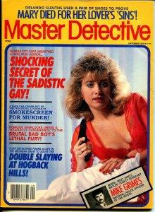 Master Detective 9/1989-TD Pub.-spicy gun moll-sadistic gay-murder-VG