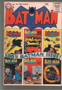 BATMAN 100;G/VG 3.0(1956) ;Can you say SCARCE!!