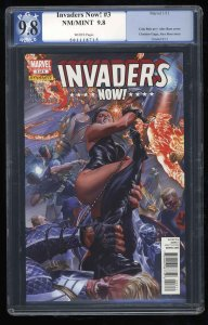 Invaders Now! #3 PGX NM/M 9.8 White Pages