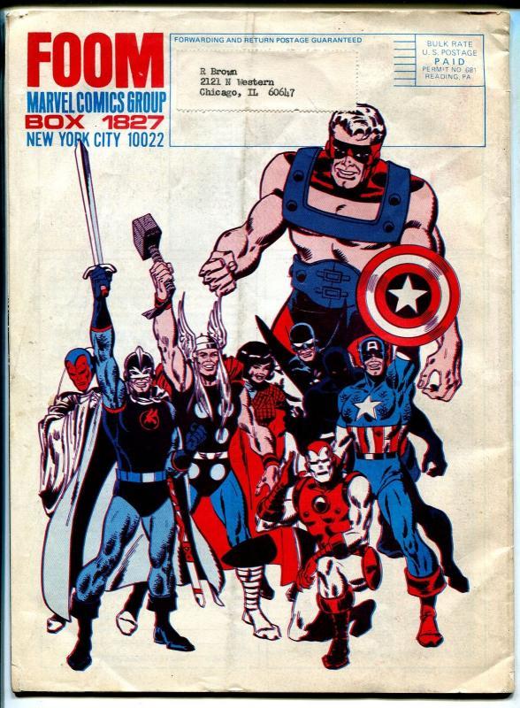 FOOM 1973-early Marvel Comics fanzine-Spider-man infinity cover-Bull Pen Pros-VG