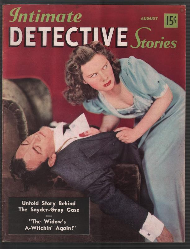 Intimate Detective Stories #6 8/1940-sin shanty-violent-pulp thrills-FN/VF