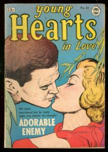 YOUNG HEARTS #18-ROMANCE-ADORABLE ENEMY-BOB POWELL ART VG