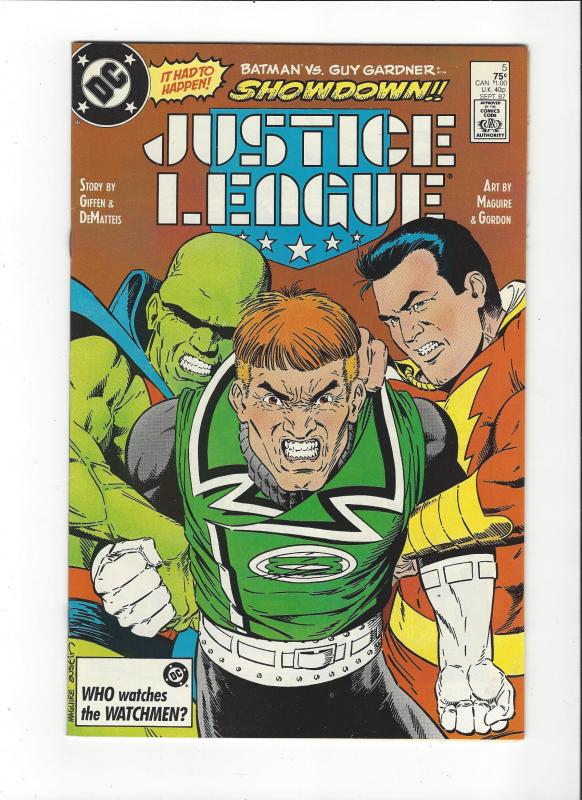 Justice League #5 1987 DC Comics Copper Age  NM