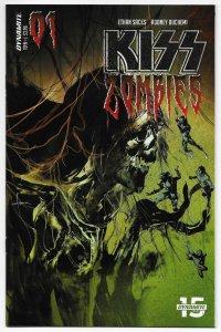 Kiss Zombies #1 Cvr B Sayger (Dynamite, 2019) NM