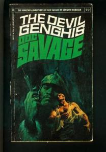 DOC SAVAGE-THE DEVIL GENGHIS-#77-ROBESON-G-FRED PFEIFFER COVER-1ST EDTION G