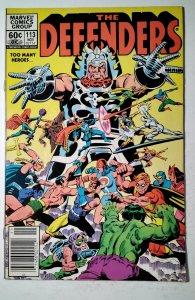 The Defenders #113 (1982) Marvel Comic Book J757