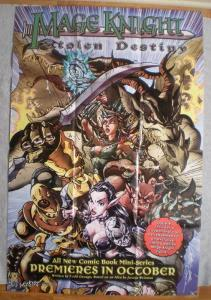 MAGE KNIGHT STOLEN D Promo poster, 24x36, 2002 , Unused, more Promos in store