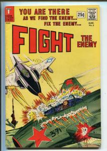 FIGHT THE ENEMY #3 1967-TOWER-LAST ISSUE-WWII-VIET NAM-WALLY WOOD-fn/vf