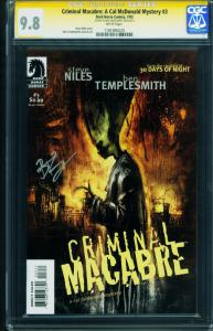 Criminal Macabre: A Cal McDonald Mystery #3 2003 CGC 9.8 Signed TEMPLESMITH-1181