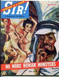 SIR! Magazine October 1953-ROMMEL-BULLFIGHTERS-HANGING VG/FN