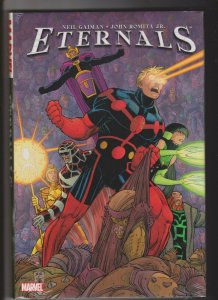 ETERNALS by Neil Gaiman & John Romita JR 2007 SEALED  HARDCOVER MARVEL COMICS