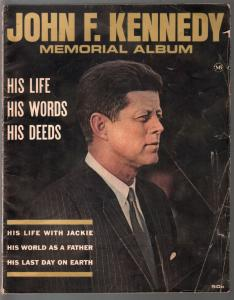 John F Kennedy Memorial Album #1 1964-Macfadden-1st Issue-Jackie-Dallas-G/VG