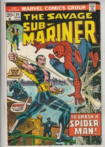 Sub-Mariner #69 (Mar-74) VF/NM High-Grade Sub-Mariner (Prince Namor)