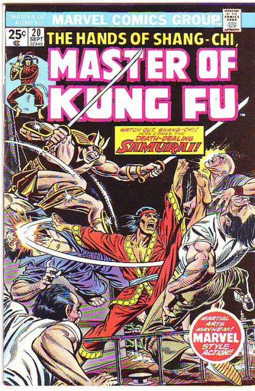 Master of Kung Fu, the Hands of Shang-Chi #20 (Sep-74) NM