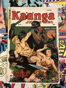 Kaanga Jungle King #18 G+ 2.5 anc 10c GOLDEN AGE gorilla cover ANC fiction house
