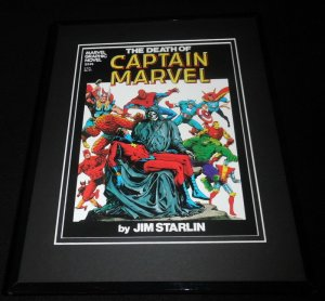 Death of Captain Marvel Framed 11x14 Repro Cover Display