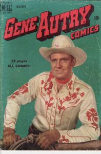 GENE AUTRY #35 JESSE MARSH ART 1950 EGYPTIAN COLLECTION G/VG