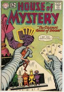 HOUSE OF MYSTERY 127 GOOD   October 1962 COMICS BOOK