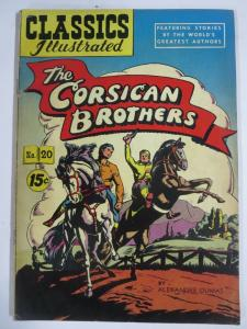 CLASSIC ILLUSTRATED #20 (G+) THE CORSICAN BROTHERS (7th Edition, HRO=97)