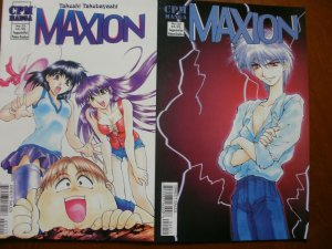 2 Near-Mint CPM Manga MAXION #21 #22 (2001) Takebayashi (Mature Reader) Art