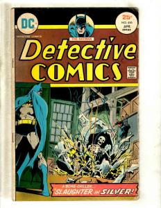 Detective Comics # 446 FN DC Comic Book SIGNED By Julius Schwartz Batman J371