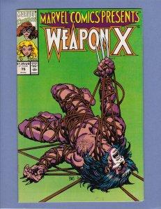 Marvel Comics Presents #75 FN Wolverine Weapon X Shanna Dr Doom