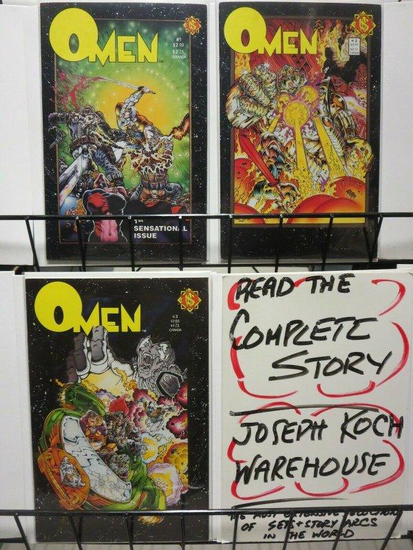 OMEN (NORTHSTAR) 1(1st print),2-3 TIM VIGIL complete!