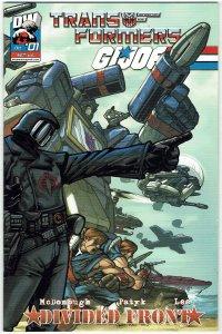 Transformers/G.I. Joe: Divided Front #1 (2004) Ng Cobra Commander Variant NM