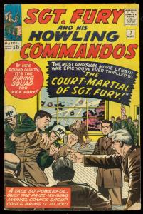 SGT FURY AND HIS HOWLING COMMANDOS #7 1966-JACK KIRBY VG-