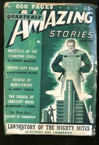 Amazing Stories Quarterly Winter 1943-LEROY YERXA-NELSON S BOND-PULP-good